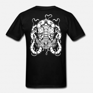 MR. WILDFIRE 'GAS MASK LOGO' UNISEX T-SHIRT